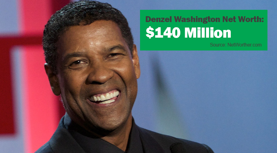 denzel washington net worth 2016