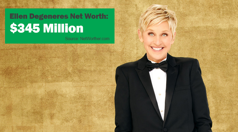 ellen degeneres net worth 2016