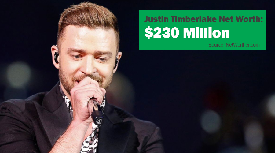 justin timberlake net worth 2016