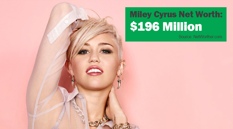 miley cyrus net worth 2016