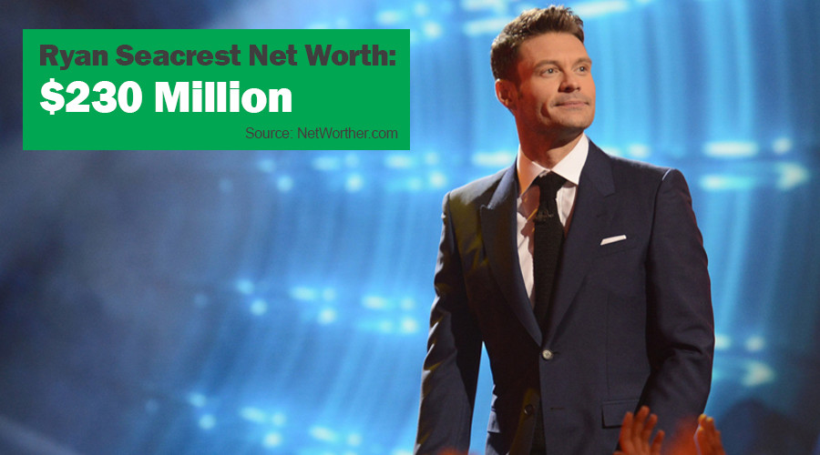 ryan seacrest net worth 2016
