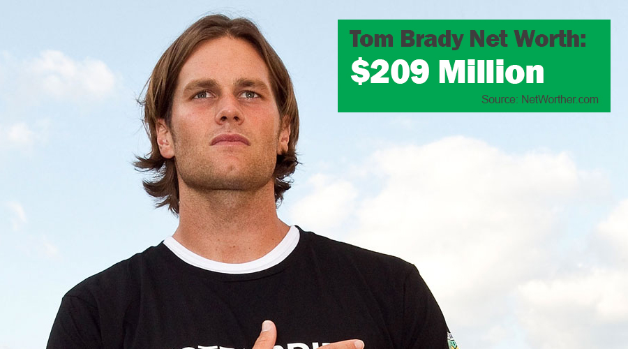 tom brady net worth 2016