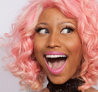 nicki minaj pink hair rapper